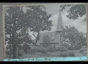 Neg0898/ Hamburg Ochsenzoll St. Jürgen-Kirche Original Negativ 1940/50