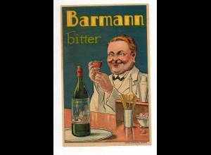 Y7625/ Flaschen-Etikette Barmann bitter Litho ca.1935 16 x 10 cm