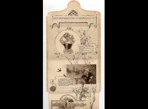Y7616/ Kartenbrief Aus Deutschlands Liederschatz ca.1900