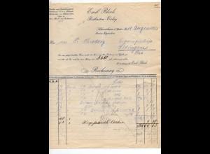 C2659/ Rechnung Postkarten-Verlag Emil Bloch Schmieheim bei Lahr 1913