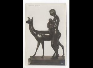 "U641/ Skulptur NPG Foto AK Hermann Nolte ""Geneveva"""