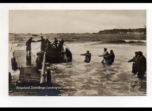 U661/ Helgoland schwierige Landung auf der Düne Foto AK ca.1925
