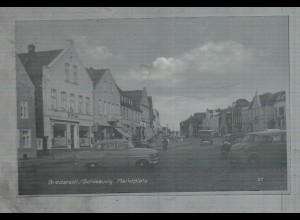 Neg1996/ Bredstedt Marktplatz Autos Opel Rekord altes Negativ 50er Jahre