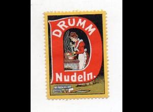 Y7688/ Reklamemarke Drumm Nudeln ca.1910 Litho