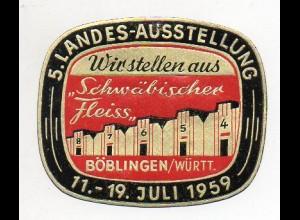 Y7687/ Reklamemarke Böblingen 5. Landes-Ausstellung 1959
