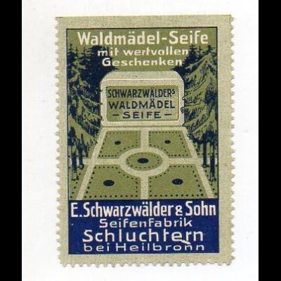 Y7691/ Reklamemarke E. Schwarzwälder Seifenfabrik, Schluchtern b. Heilbronn