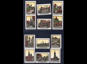 Y7695/ 12 x Reklamemarke ULM a.d. Donau Litho ca.1912