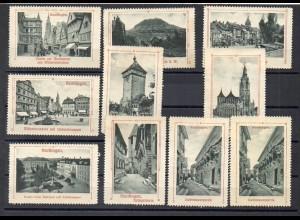 Y7704/ 10 x Reklamemarke Reutlingen ca.1920