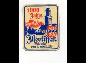 Y7672/ Illertissen 1000 Jahre Festwoche 1950 Reklamemarke