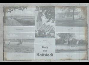 Neg2190/ Hattstedt Schule, Kirche, altes Negativ 50/60er Jahre
