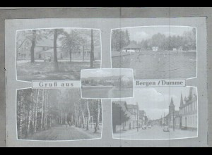 Neg1702/ Gruß aus Bergen a.d. Dumme altes Negativ 1950/60