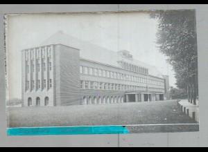Neg1643/ Rendsburg Mittelschule altes Negativ 1940/50
