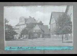 Neg2283/ Marne Rathaus mit Schule altes Negativ 1940/50