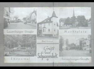 Neg2366/ Gruß aus Schwarzenbek altes Negativ 1940/50