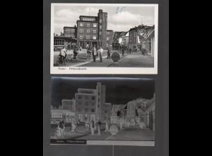 Neg2378/ Itzehoe Dithmarscherplatz AK + altes Negativ 1950/60
