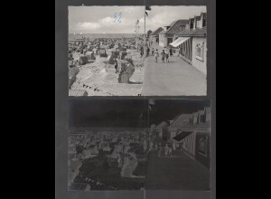 Neg2381/ Kellenhusen Strandpromenade AK + altes Negativ 1950/60