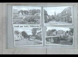 Neg2483/ Leck Hauptstr., Bahnhofstraße altes Negativ 1940/50