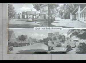 Neg2480/ Leck Bergstr, Markt, Autos, Tankstelle altes Negativ 1940/50