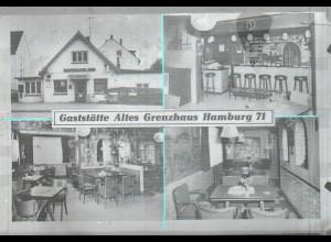 Neg2609/ Hamburg Barmbek Gaststätte Altes Grenzhaus altes Negativ 1960/70