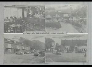 Neg2711/ Lauenburg Hotel Kopiske, Tankstelle altes Negativ 60er Jahre