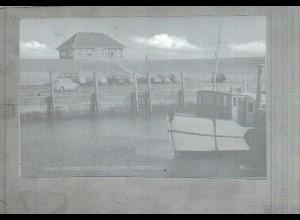 Neg2793/ Insel Nordstrand Hafen altes Negativ 60er Jahre