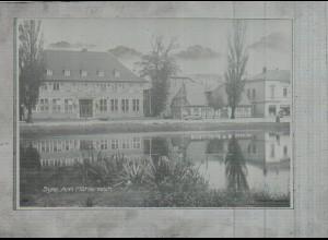 Neg2904/ Syke Am Mühlenteich altes Negativ 50er Jahre