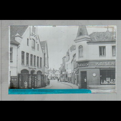 Neg3062/ Schleswig Am Kornmarkt altes Negativ 40/50 Jahre