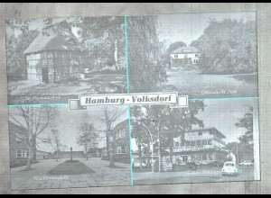 Neg3210/ Hamburg Volksdorf Alter Dorfplatz, Walddörfer Schule 60er Jahre
