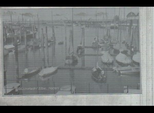 Neg3157/ Glückstadt Hafen Segelboote Schiffe altes Negativ 50er Jahre