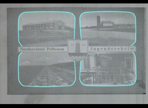 Neg3325/ Pellworm Jugendseeheim altes Negativ 50/60er Jahre