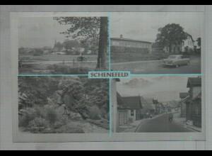 Neg3261/ Schenefeld bei Hamburg Schule, Holstenstr. altes Negativ 50er Jahre
