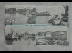 Neg3245/ Hamburg Harburg Hafen altes Negativ 50er Jahre