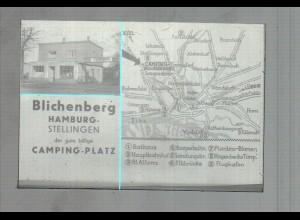 Neg3236/ Hamburg Stellingen Campingplatz Bilchenberg altes Negativ 50er Jahre