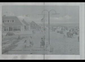 Neg3522/ Grömitz Promenade und Strand altes Negativ 50/60er Jahre