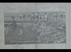 Neg3698/ Husum Badeleben am Strand altes Negativ 60er Jahre