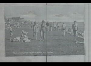 Neg3697/ Husum Badeleben am Strand altes Negativ 60er Jahre