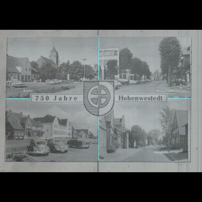 Neg3619/ Hohenwestedt 750 Jahre altes Negativ 50/60er Jahre