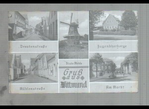 Neg3586/ Wittmund Mühlenstr, Jugendherberge, Mühle altes Negativ 50er Jahre