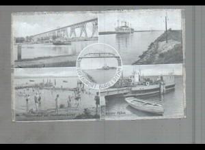 Neg3720/ Burg i. Dithm. Burger Fähre, Hochbrücke altes Negativ 50er Jahre