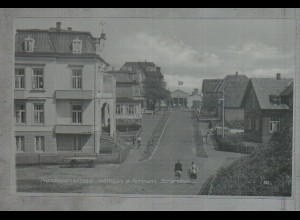 Neg3774/ Wittdün a. Amrum Strandstraße altes Negativ 50er Jahre