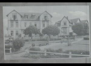 Neg3776/ Norddorf a. Amrum Hotel Hüttmann altes Negativ 50er Jahre