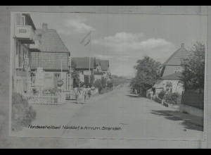 Neg3779/ Norddorf a. Strandstraße altes Negativ 50er Jahre