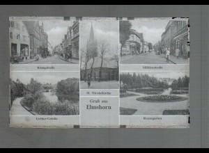 Neg3853/ Elmshorn Mühlenstr, Königstr. altes Negativ 40/50er Jahre