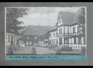 Neg3840/ Fallersleben Hoffmannhaus Innenhof Autos altes Negativ 50er Jahre