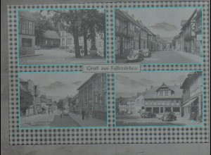 Neg3836/ Fallersleben Bahnhofstr, Marktstr., Autos altes Negativ 50/60er Jahre