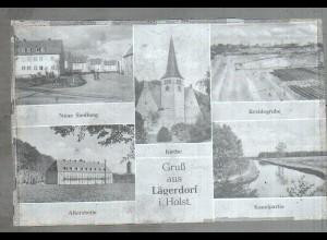 Neg4017/ Lägerdorf Neue Siedlung, Kreidegrube altes Negativ 50er Jahre