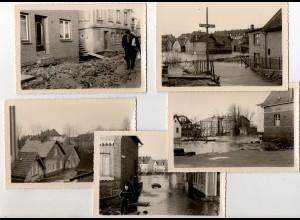Y14502/ 5 x Foto Finkenwerder Müggenburg 1962 Flutkatastrophe Hochwasser