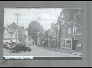 Neg4140/ Nortorf Poststr. Autos altes Negativ 40/50er Jahre
