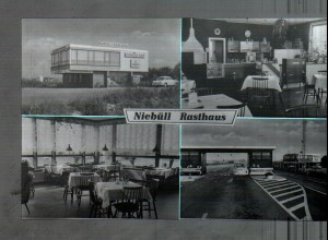 Neg4470/ Niebüll Rasthaus altes Negativ 60er Jahre