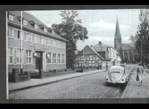 Neg4589/ Syke Kreissparkasse, VW Käfer altes Negativ 50er Jahre